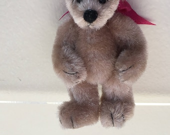 """Miniature Brown """"Webster"""" Bear by Mary Bures 2000 (JL)"""