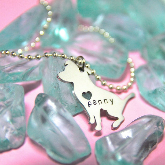 Custom Dog Necklace. Pet Name Jewelry. Pet Memorial. Dog Mom. Pet jewelry. Custom Dog Jewelry.