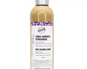 Hair Growth Lotion, Bamboo Extract, Mustard Oil, Black Cumin Oil - Moisturizes, Strengthens, Stimulates - 100ml | Travel Size