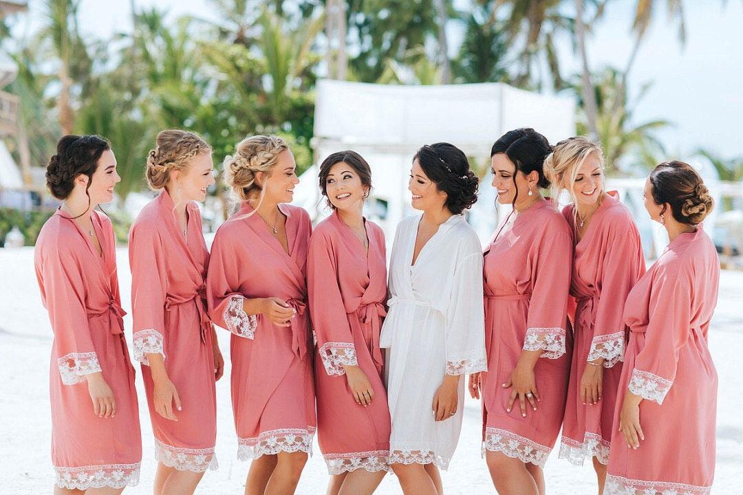 Plus Size robe, Personalised Robes, Bridesmaid Gift, Wedding robes, Brides  Robe, Kimono Robe, Bridemsiad robe, bride gift, personalised gift