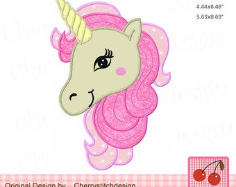 Unicorn Machine Embroidery Applique Design AN0038 -for 4x4,5x7 and 6x10 hoop
