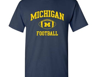Michigan Wolverines Classic Football T-Shirt - Navy