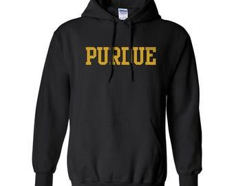 Purdue Boilermakers Basic Block Hoodie - Black