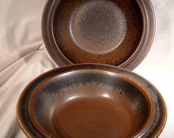"Pair Arabia of Finland Ruska 8"" Rim Cereal Bowls"