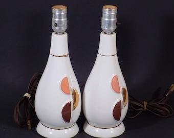 Mid Century Modern Dresser Lamps White