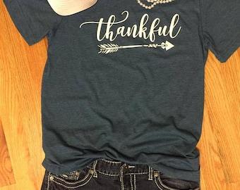 Thankful Shirt --- Thankful --- Thankful Tshirt --- Thankful T-Shirt --- Cute Fall Clothes