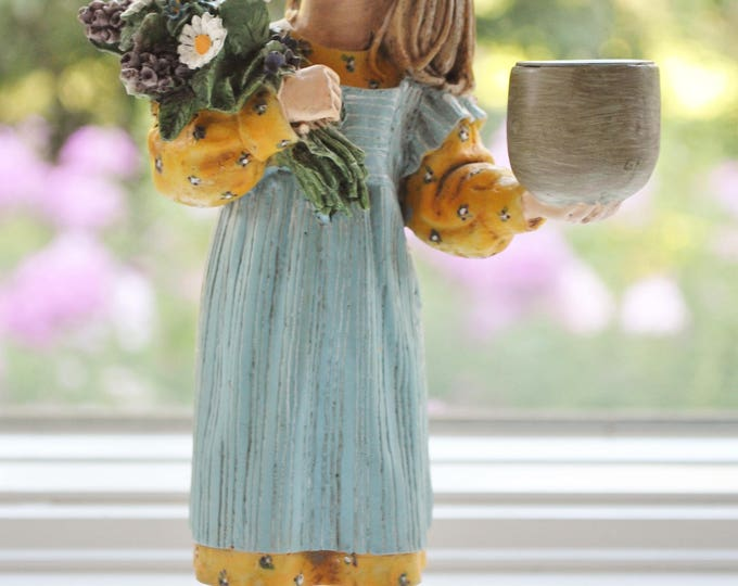 Candy Design Norway Midsommar Girl with Flowers Candle Holder Carl Larsson