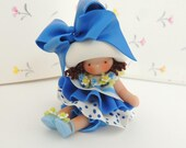 Blueberry Muffin Doll Fairy Garden Wee Miniature Figurine