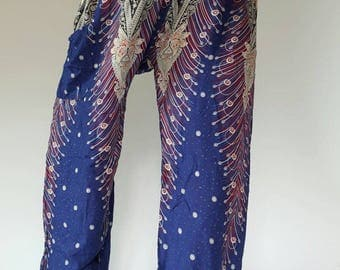 SM0017 Thai Genie Pants Comfy Trouser, Gypsy Pants Rayon Pants,Aladdin Pants Maxi Pants Boho Pants