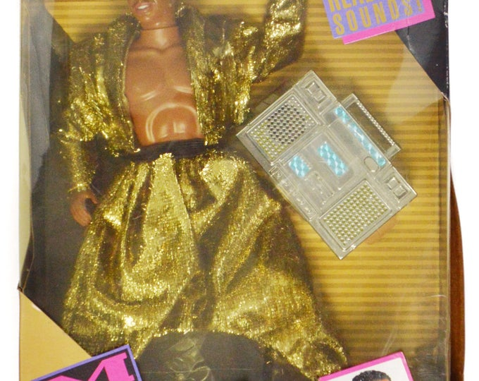 Vintage 90s MC Hammer & Boom Box NIB Doll Action Figure