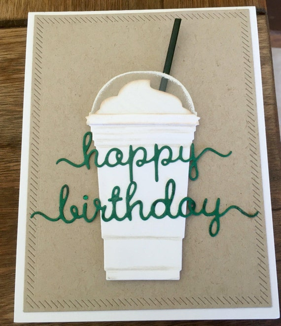 Items Similar To Starbucks Happy Birthday Card With Gift