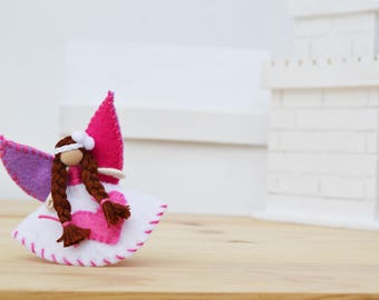 Valentine Fairy Doll - Valentine Day Doll,  waldorf fairies, miniature fairy doll, miniature fairies, OOAK fairy doll, mini fairy