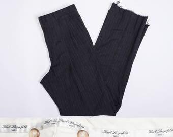 KARL LAGERFELD Pinstriped Pleated Slacks / Pants
