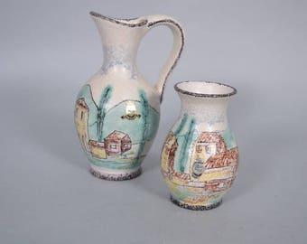 set of 2 ES keramik  vases   (Emons & Sons) Germany
