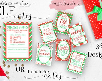 Elf Notes for Kids | Christmas Lunch Box Notes | Assorted Christmas Notes | 36 Printable  sc 1 st  Etsy & Kids lunch notes | Etsy Aboutintivar.Com