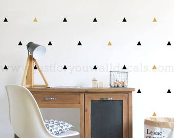 Set of 56 - Mini Triangle Wall Decals, Nursery Wall Decals, Pattern Wall Decals, Playroom Wall Decal, Play Room Wall Decal, 11-0002
