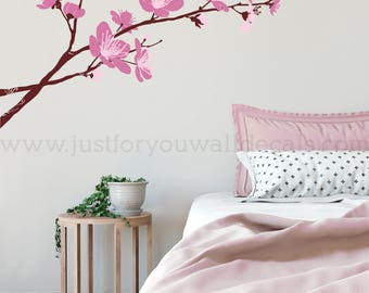 Cherry Blossom Wall Decal, Flower Wall Decals, Floral Wall Decals, Nursery Wall Decal, Living Room Wall Decal, Wall Decals Nursery – 04-0010
