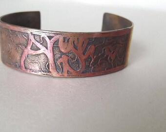 Arise cuff copper and brass