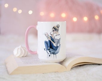 Literary Mug, Bookworm, Gifts For Book Lovers, Literary Gifts, Bookworm Gifts, Book Lover Gift, Ceramic  Mug, Gifts For Readers