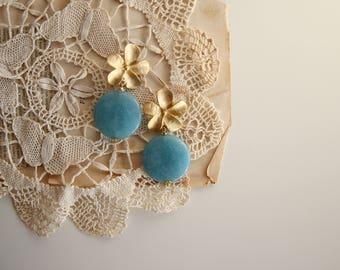 Gemstone earrings, angelite gemstone, wedding jewels