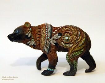 Bear Grizzly Animal Totem Ursa Figurine Fantasy Skulpture Shamanic Guardian Forest Spirit TotembyKarhu