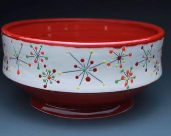 Red Sparkle Serving Bowl
