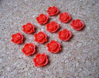 Cute Fridge Magnets - Flower Magnets, Red, Set of 12, Strong Magnet, Hostess Gift, Kitchen Magnets, Office Decor, Cubicle Decor, Locker
