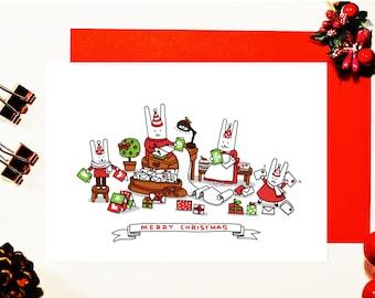 Bits Family Christmas Card - LETTER