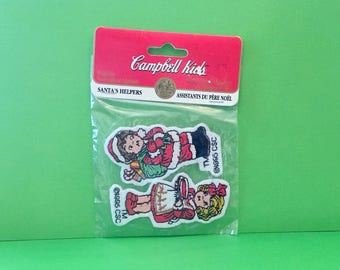 "Campbell Kids Christmas Patches  ""Santa's Helpers"" (1995)"