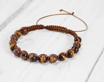 Gift/for/husband gift Tiger eye bracelets Mens bracelet for him guy bracelets unique Amulet bracelet/for/dad brown bracelet hipster bracelet