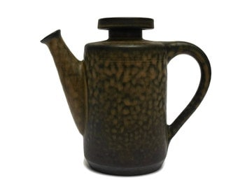 Zaalberg Holland Mid-Century Studio Pottery Coffee Pot. Vintage Deutch Kitchen Decor.