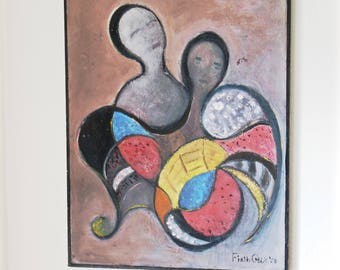 Mid Century Painting Abstract 1950s Firth Geer