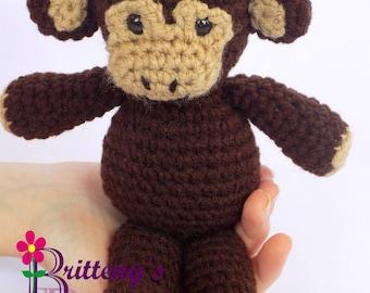 Monkey Stuffed Animal / Crochet Monkey Stuffed Animal / Plush Monkey / Plush Monkey Toy / Crochet Plush Monkey Toy / Monkey Snuggly Pal