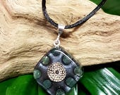 Aventurine Orgone Pendant - Handmade Healing Jewelry - Spiritual Gift, Chi, Prana, Energy Balancing - Small
