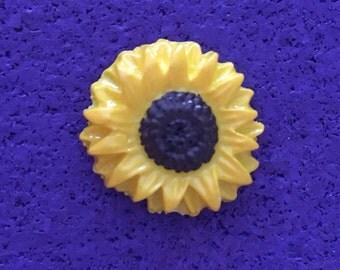Vintage Sunflower Pin