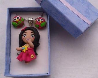 "Box Christmas gift box ""Hula Doll"""