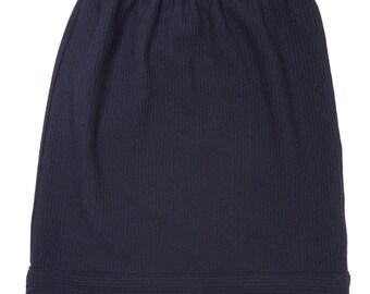 tube wool skirt knee long with elastic band