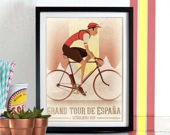Vuelta a España Grand Tour Bicycle Bike Race Poster Wall Art Print Home Décor cycling, cycle Vuelta a Espana Spain Spanish