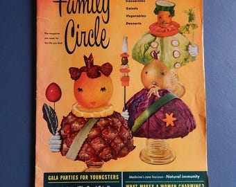 Family Circle Magazine 1958 Mardi Gras Recipes Home Decor Fashion Ads Vintage