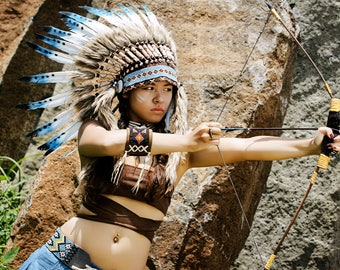 Native American headdress | Warbonnet | Carnival costume ,   short