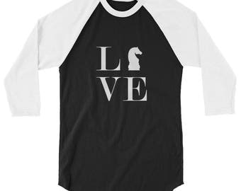3/4 sleeve raglan shirt - Live Love Chess Baseball Style T-Shirt