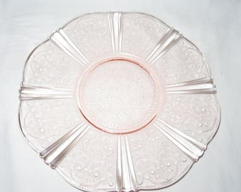 "MacBeth Evans, Pink American Sweetheart, 12"" Salver"