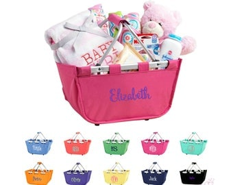 Baby basket etsy monogrammed baby basket monogrammed gift basket personalized kids basket personalized baby basket personalized diaper caddy monogram negle Image collections