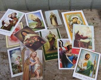 Vintage Catholic Prayer Booklets, Novena's and prayer cards Lot of 22
