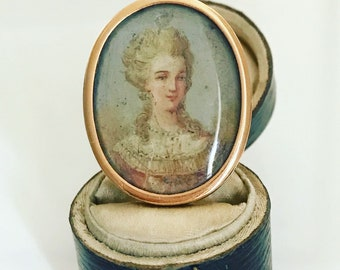 19th Century French Portrait Ring