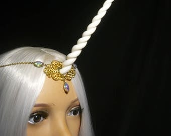 Aurora Sparkle Unicorn - Tiara with handsculpted horn