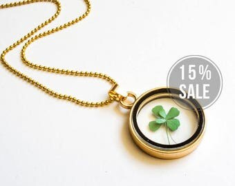 Lucky Necklace with Clover