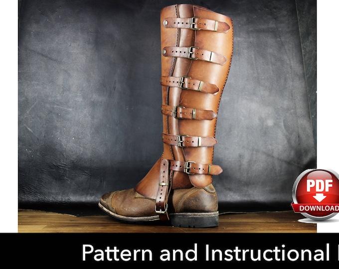 Gaiters Pattern - Cosplay DIY - Pdf Download - Cosplay Pattern Gaiters - Half Chaps Pattern