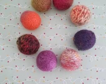 Wool Ball Cat Toys, Jingle Bell Balls, Felted Wool Cat Toy, Bell Cat Toys, Ball Cat Toys, Christmas Gift for Cat, New Cat Gift, Kitten Balls