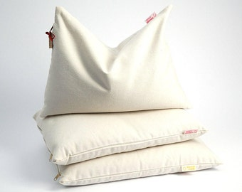 Buckwheat pillow Sleep pillow 16''x24''/40x60cm Milk White buckwheat pillow Ortopedic buckwheat pillow Pillow for neck Buckwheat neck pillow